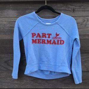 Billabong terry cloth sweatshirt- Part Mermaid